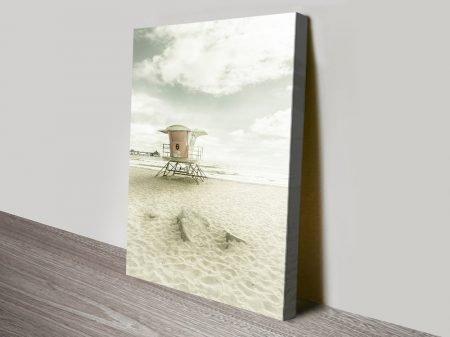 Buy California Imperial Beach Print on Canvas