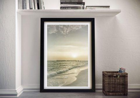 Gasparilla Island Sunset Framed Canvas Art