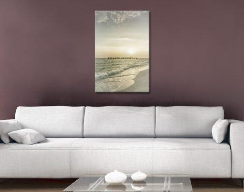 Gasparilla Island Sunset Ready to Hang Art AU