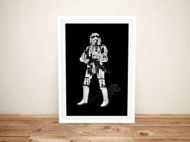 Star Wars Typographic Artwork in Black
