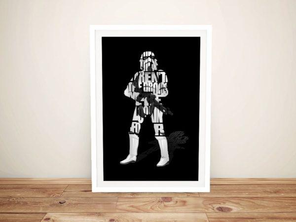 Star Wars Typographic Artwork in Black