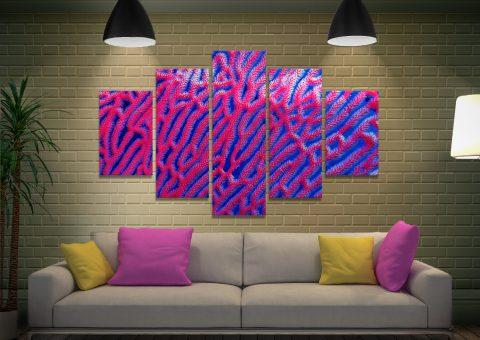 Split Diamond Abstract Art Home Decor Ideas