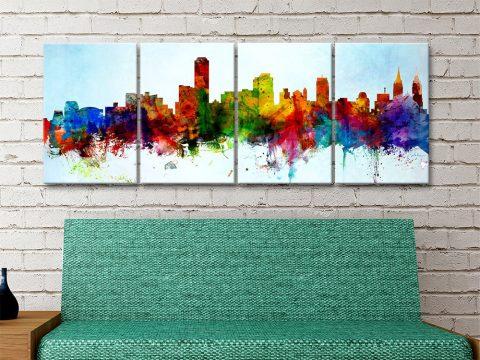 Adelaide Skyline 4-Piece Art Set for Sale Online