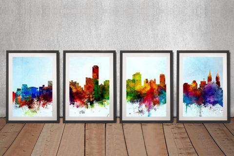 Adelaide Skyline Wall Art Gift Ideas AU