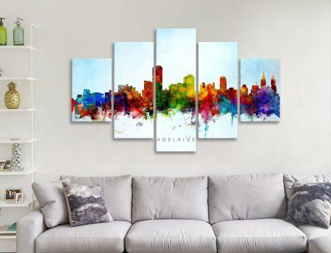 Adelaide Skyline 5-Piece Art Set Cheap Online