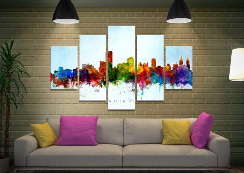 Colourful Skyline Art Home Decor Ideas AUColourful Skyline Art Home Decor Ideas AU