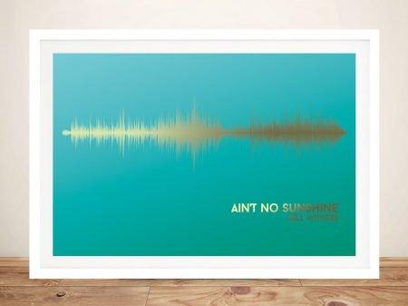Ain't No Sunshine Linear Soundwave Artwork