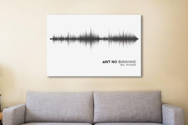 Ain't No Sunshine Soundwave Art for Sale