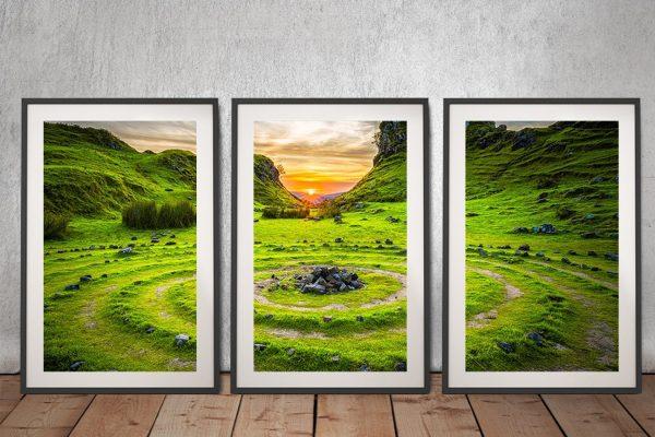 Buy Ancient Circles Framed 3-Piece Art Set