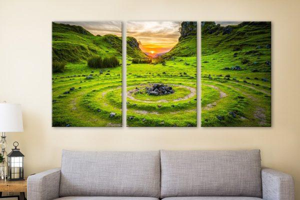 Ancient Circles Affordable Triptych Art AU