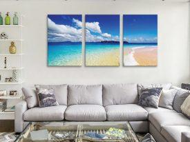 Aquatopia Triptych Beachscape Canvas Art