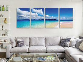 Aquatopia Split Panel Ready to Hang Art