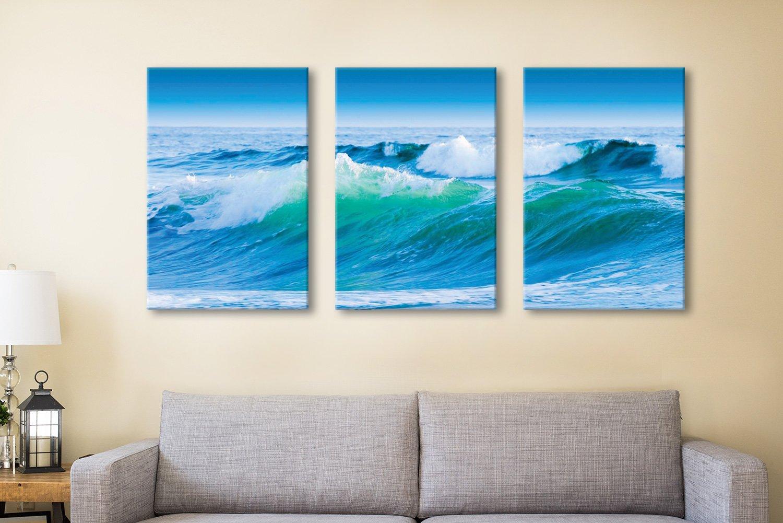 Azure Seas Triptych Seascape Set for Sale