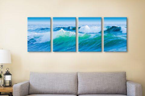 Azure Seas Split-Panel Seascape Wall Art