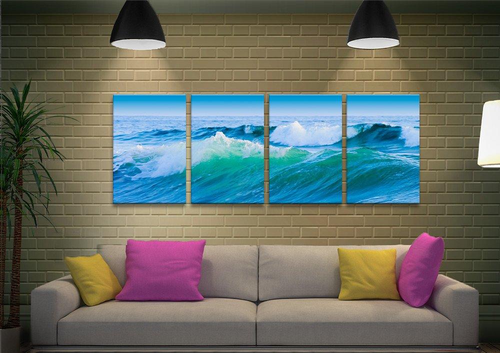 Azure Seas 4-Panel Wall Art Great Gifts Online
