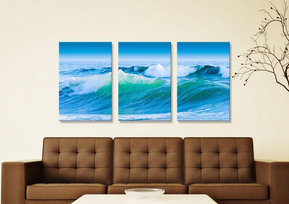 Azure Seas Split Panel Oceanscape Art