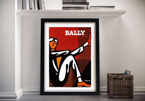 Framed Vintage Villemot Poster Cheap Online