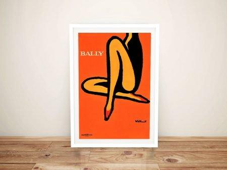 Orange Bally Vintage Poster Canvas Art