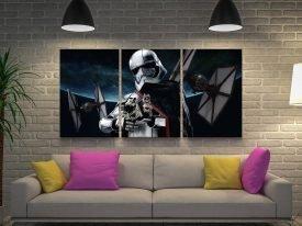 Captain Phasma Triptych Star Wars Canvas Art
