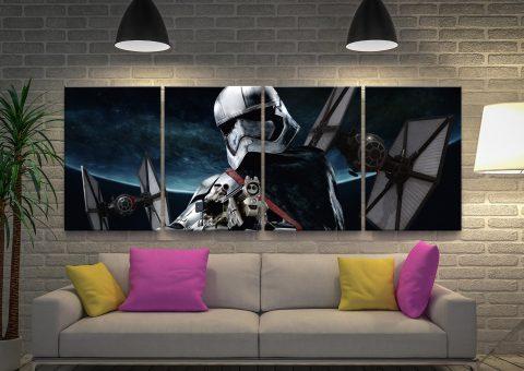 Star Wars Captain Phasma Split Panel Art