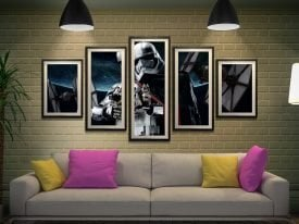 Captain Phasma 5-Panel Canvas Star Wars Art