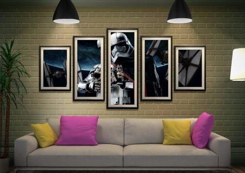 Captain Phasma 5-Panel Canvas Star Wars Art