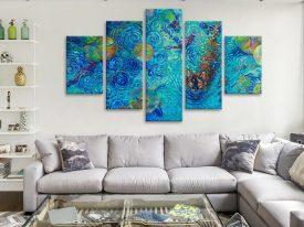 Coy Kitty Split-Diamond Iris Scott Wall Art