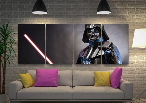 Darth Vader 4-Piece Wall Art Home Decor AU