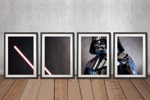 Feel the Force 4-Panel Star Wars Wall Art