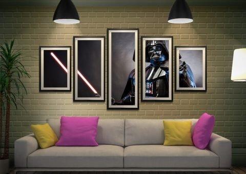 Darth Vader Framed 5-Panel Set Gallery Sale AU