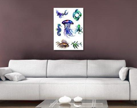 Linda Callaghan Sea Creatures Wall Art AU