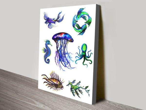 Sea Creatures Artwork Unique Gift Ideas AU