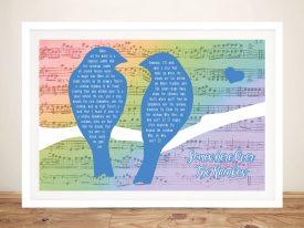 Buy Songbirds Custom Song Lyrics Artwork