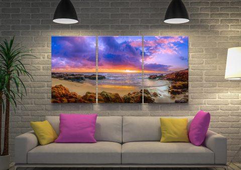 Ready to Hang Sunset Bay 3-Panel Art Set