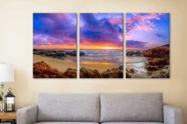 Sunset Bay Noel Buttler Seascape Triptych