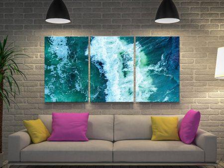 Surf Break 3-Panel Matt Day Canvas Art
