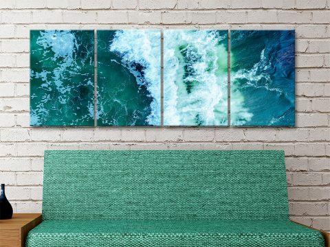 Surf Break Split-Panel Australian Surfscape Art