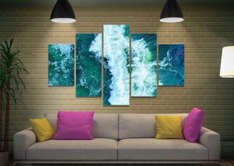 Surf Break Multi-Panel Print Home Decor AU