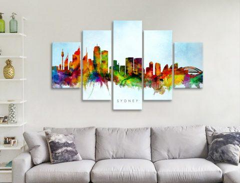 Get Affordable Split-Panel Skyline Prints