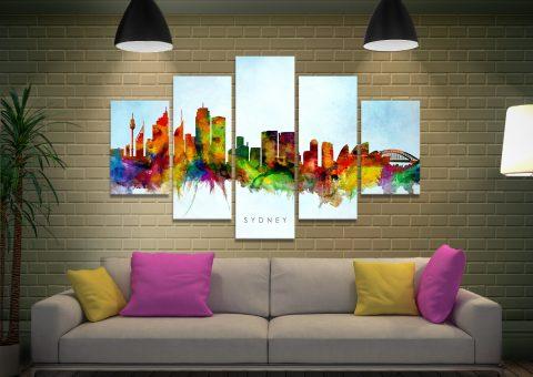 Buy a Sydney Skyline Split-Diamond Art Set