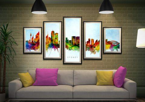 Ready to Hang Michael Tompsett Skyline Art AU