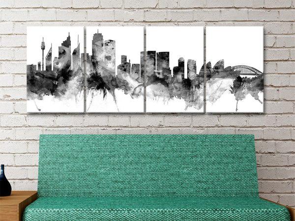 Black Tones Skyline Wall Art by Michael Tompsett
