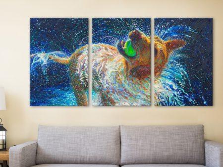 The Juggler Iris Scott Triptych Canvas Art