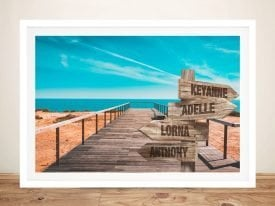 Blue Sky Custom signpost Framed Art