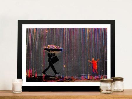 Framed Banksy Canvas Prints for Sale