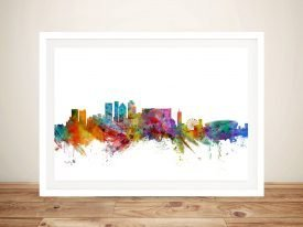 Cape Town Skyline Quality Canvas Artwork