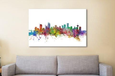 Vancouver Skyline Michael Tompsett Art AU