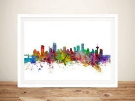 Vancouver Skyline Colourful Abstract Art