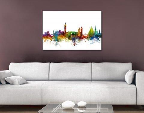 Colourful Venice Skyline Print on Canvas AU