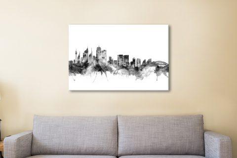 Sydney Skyline by Michael Tompsett for Sale